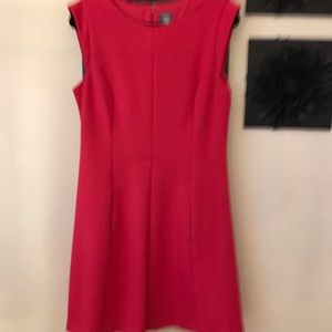 Vince Camuto dark pink dress with pockets.